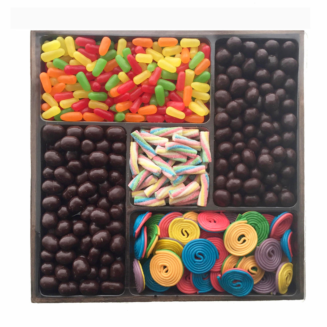Chocolate and Candy Platter, Large Wooden Tray