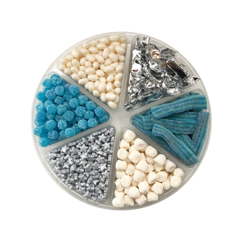 Blue, White and Silver Candy Platter