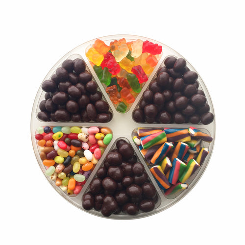 Chocolate and Candy Platter, 6 Section