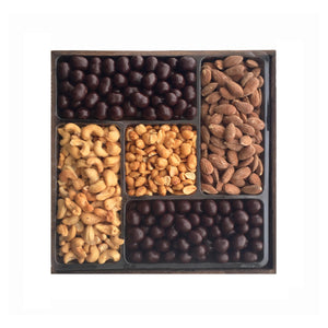 Chocolate and Nuts Platter, Medium Wooden Tray