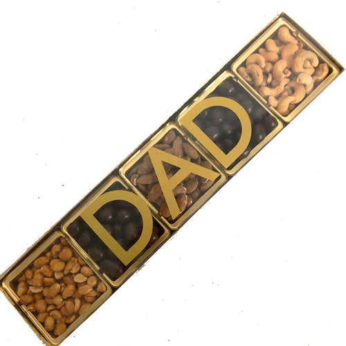 Dad 5 Section Tray, Chocolate and Nuts