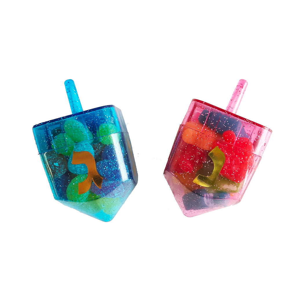 Fillable Dreidel, Assorted Colors- Filled