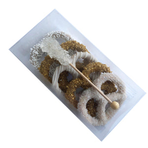 Small Pretzel Box with Rock Candy