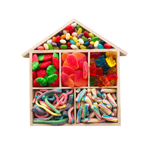 Wooden House Candy Tray, Small