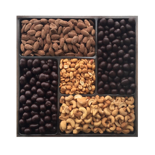 Chocolate and Nuts Platter, Large Wooden Tray