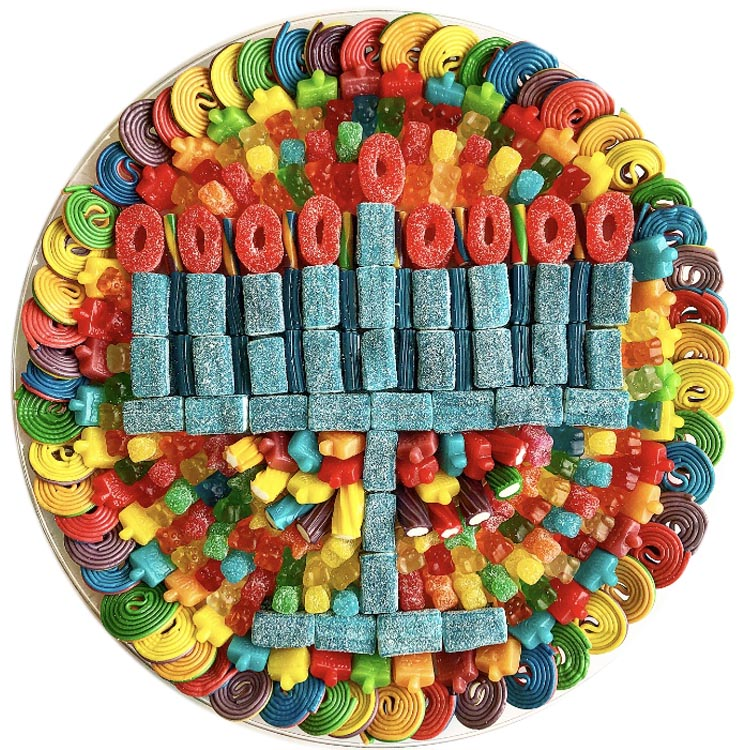 Menorah Candy Platter