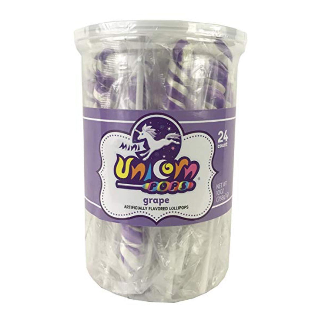Purple Unicorn Lollipops, 24 Count