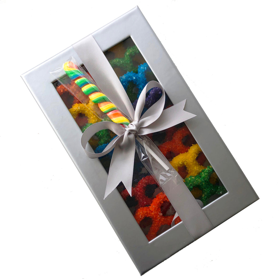 Rainbow Classic Box with Lolly