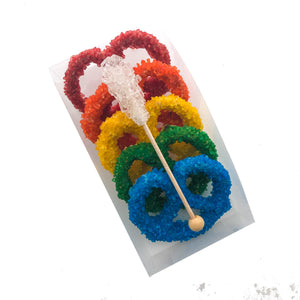 Small Pretzel Box with Rock Candy, Assorted Color Options
