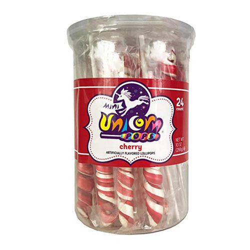 Red Unicorn Lollipops, 24 Count