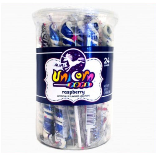 Royal Blue Unicorn Lollipops, 24 Count