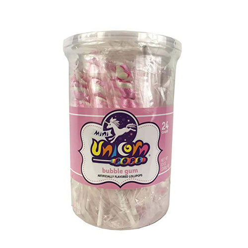 Light Pink Unicorn Lollipops, 24 Count
