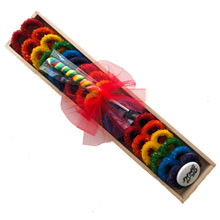 Load image into Gallery viewer, Long Wooden Tray, Rainbow Pretzels with Lolly