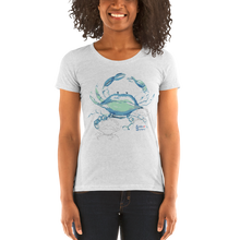 Load image into Gallery viewer, Shadow Crab Tee - Fitted Scoopneck - Scuba Sisters Diving Apparel