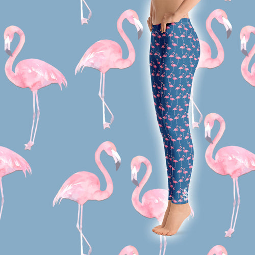 Flamingo Leggings - Scuba Sisters Diving Apparel