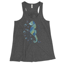 Load image into Gallery viewer, Womens Seahorse Tank for Ocean Lovers - Grey
