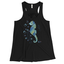 Load image into Gallery viewer, Bubbly Seahorse Tank - Flowy Racerback - Scuba Sisters Diving Apparel