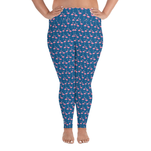 Flamingo Plus Size Leggings - Scuba Sisters Diving Apparel