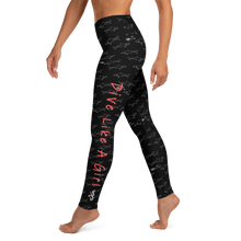 Load image into Gallery viewer, Dive Like a Girl Leggings - High Waist - Scuba Sisters Diving Apparel