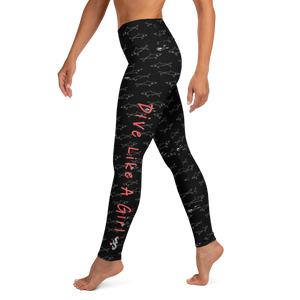 Dive Like a Girl Leggings - High Waist - Scuba Sisters Diving Apparel
