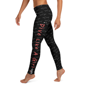 Dive Like a Girl Leggings - Scuba Sisters Diving Apparel