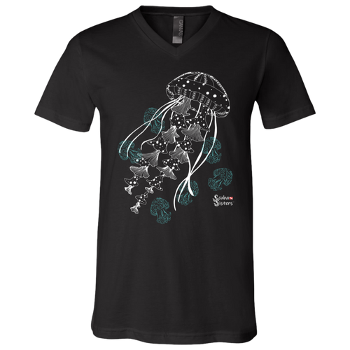 Unisex Jellyfish Shirt by Scuba Sisters - Black