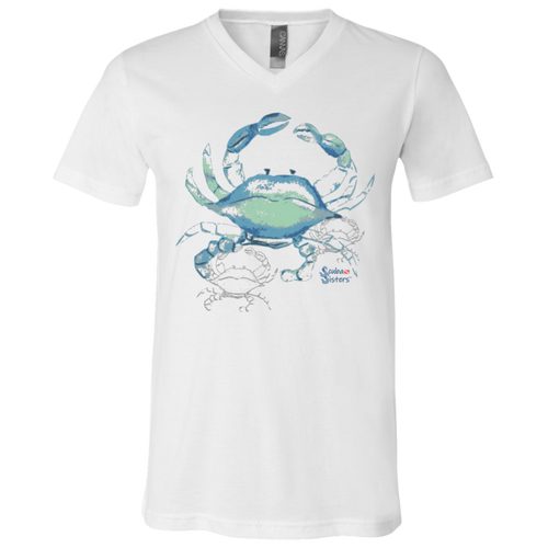 Unisex Shadow Crab Shirt by Scuba Sisters - White