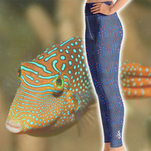 Load image into Gallery viewer, Pufferfish Scuba Diving Leggings by Scuba Sisters