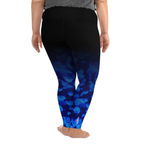 Jellyfish Bloom Plus Size Leggings - Scuba Sisters Diving Apparel