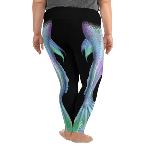 Shimmering Mermaid Tail Plus Size Leggings