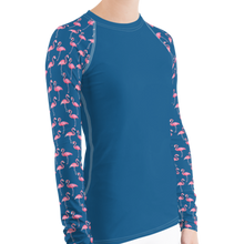 Load image into Gallery viewer, Flamingo Women's Rash Guard - Scuba Sisters Diving Apparel
