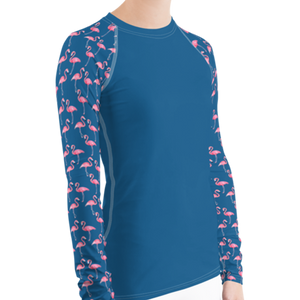 Flamingo Women's Rash Guard - Scuba Sisters Diving Apparel