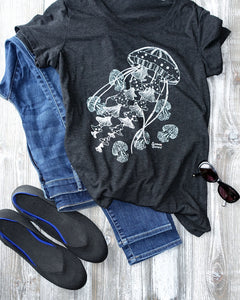 Ghost Jellies Tee and Jeans Outfit