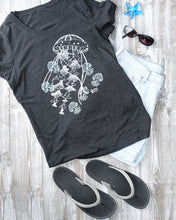 Load image into Gallery viewer, Ghost Jellies Tee - Fitted Scoopneck - Scuba Sisters Diving Apparel
