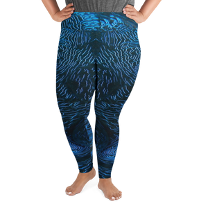 Giant Clam Plus Size Leggings - Scuba Sisters Diving Apparel