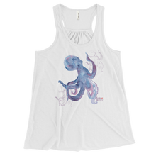 Load image into Gallery viewer, Ladies Octopus Tank Top by Scuba Sisters - White