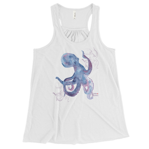Shadow Octopus Tank - Flowy Racerback - Scuba Sisters Diving Apparel