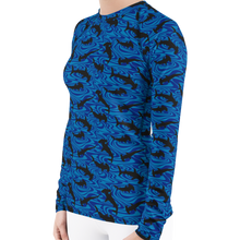 Load image into Gallery viewer, Hammerhead Shark Rash Guard for Women by Scuba Sisters