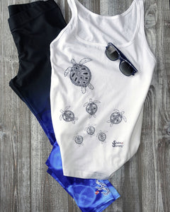 Jellyfish Leggings and Turtle Crossing Tank Mockup