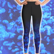 Load image into Gallery viewer, Jellyfish Scuba Diving Leggings by Scuba Sisters