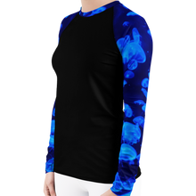 Load image into Gallery viewer, Jellyfish Bloom Women's Rash Guard - Scuba Sisters Diving Apparel