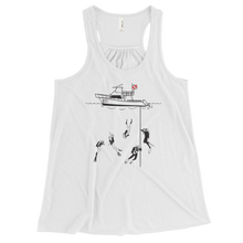 Load image into Gallery viewer, Diving with My Scuba Sisters Tank - Flowy Racerback - Scuba Sisters Diving Apparel