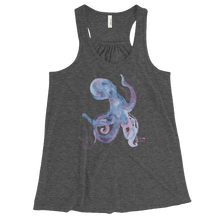 Load image into Gallery viewer, Ladies Octopus Tank Top by Scuba Sisters - Grey