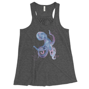 Ladies Octopus Tank Top by Scuba Sisters - Grey