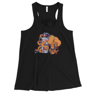 Love scuba octopus tank beach wear