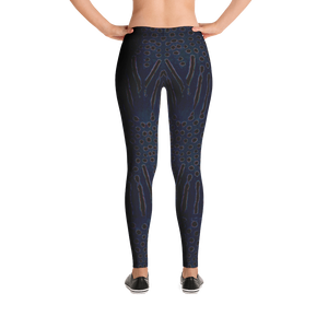 Moonrise Puffer Snorkeling Leggings - Inspired by the Sharpnose Pufferfish