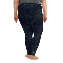 Load image into Gallery viewer, Moonrise Puffer Plus Size Leggings - Scuba Sisters Diving Apparel