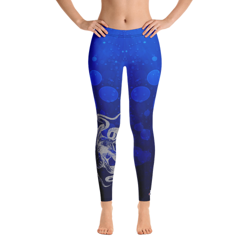 Octopus hug printed leggings beach clothes for women