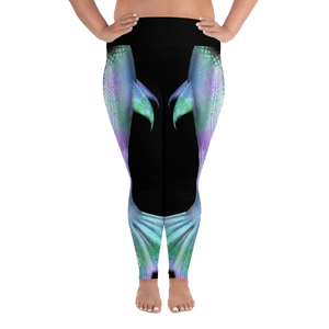 Shimmering Mermaid Tail Plus Size Leggings - Scuba Sisters Diving Apparel