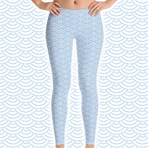 Fish Scale Mermaid Scuba Diving Leggings